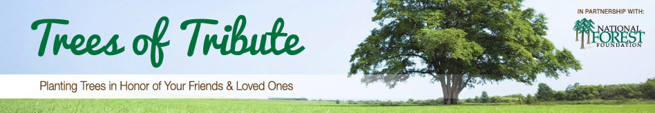 Trees of Tribute - Planting Trees in Honor of Your Friends & Loved Ones