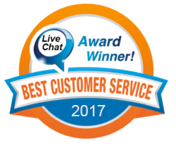 live chat best customer service logo