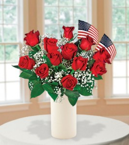Red-Roses-with-USA-Flags