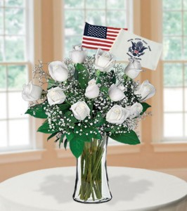 White-Roses-with-Coast-Guard-Flag