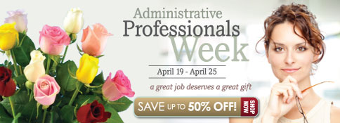 Beautiful bouquets for admin professionals!