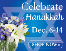 Celebrate Hanukkah with flowers!