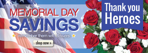 Beautiful bouquets for Our Country's Heroes!