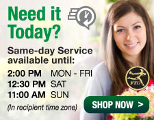Need it Today? Same-day delivery service available from local florists